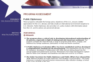 "US Public Diplomacy Operations deemed ""Adequate"" by OMB"
