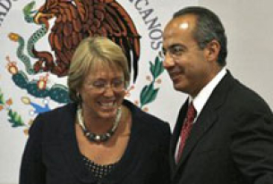 Chilean President Michelle Bachelet Visits Mexico