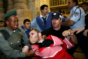 Christians Fight in Jerusalem
