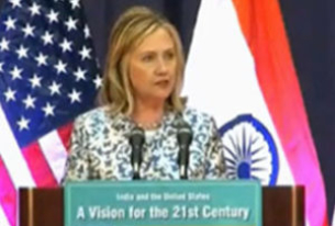 Secretary Clinton Nudges India to Embrace the Leadership Role