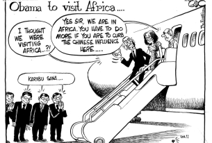 Obama visits Africa, welcomes competition on the continent