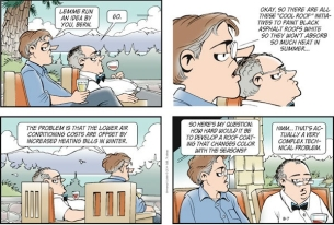Gary Trudeau on the Roof Dilemma