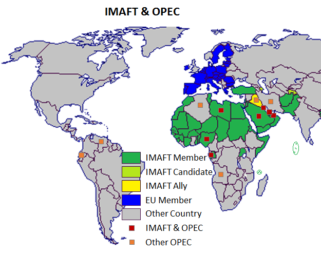 Members of the Islamic Military Alliance and OPEC