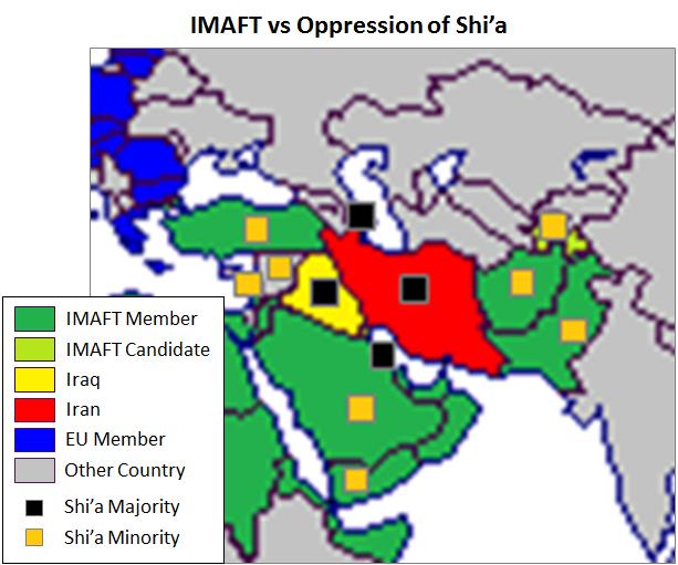 Islamic Military Alliance, Shi'a majorities and minorities