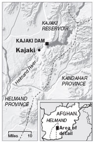 Map of Kajaki Dam
