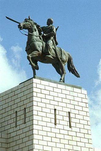 Statue of Sayyid Mohammed Abdullah Hassan in Mogadishu, Somalia.