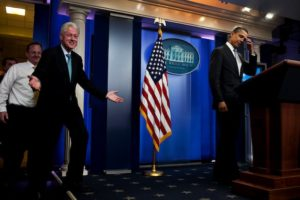 """Did somebody say Bill?!"" Photo Credit: Drew Angerer/The New York Times"
