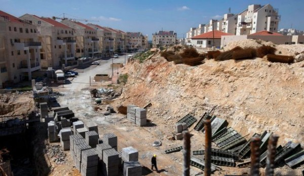 Construction site in the West Bank settlement of Modiin Ilit. Photo by AP