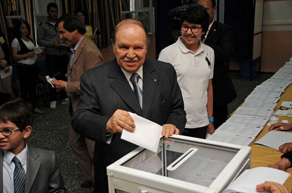 Abdelaziz Bouteflika was virtually absent from the proxy presidential campaign run by his prime minister. (Source: Wikimedia Commons)