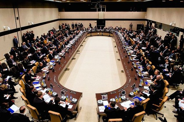 Secretary Kerry presides over meeting of anti-ISIS coalition members at NATO Headquarters in Belgium. Photo Credit: U.S. Department of State