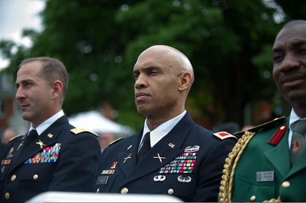 U.S. Army War College students listen as Army Chief of Staff Gen. Ray Odierno, not shown, gives the keynote speech during the school's class of 2013 graduation ceremony at Carlisle Barracks in Carlisle, Penn., June 8, 2013. (Photo Credit: SSG Teddy Wade)