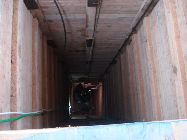Entrance to a smuggling tunnel in Gaza.