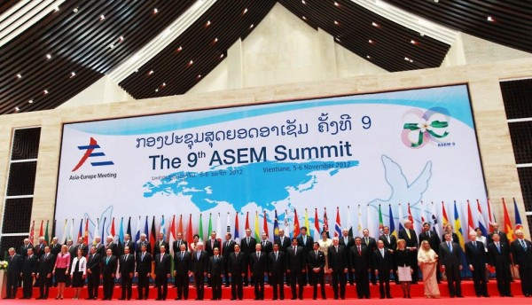 EU and Asian Leaders at the 9th ASEM Summit hosted in Laos, November, 2012 Image: gov.ph