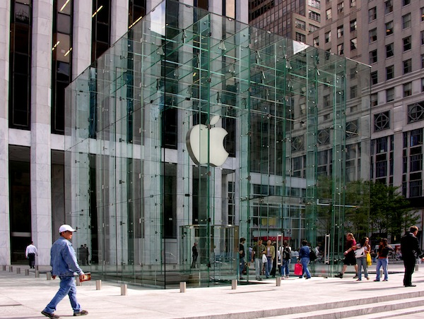 The Apple Store on Fifth Avenue in New York (Source: Wikimedia Commons).
