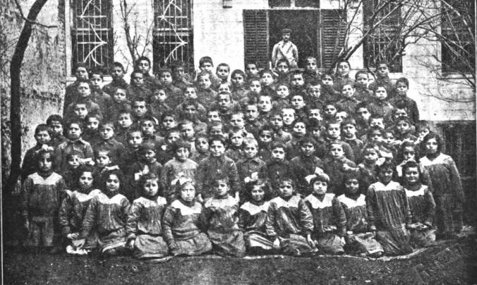 Armenian Genocide Orphans in Arnavutkoy. K. Polis : Published by M. Hovakimean, 1920.