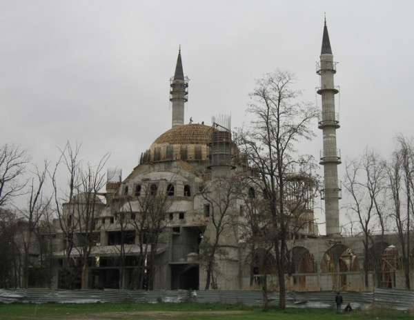 Bishkek's central mosque, in process [credit: Jason Anderson]