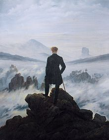 """Wanderer Above the Sea of Fog,"" Caspar David Friedrich."