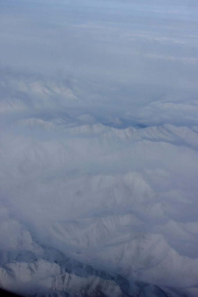 Flying over the Arctic in a 777