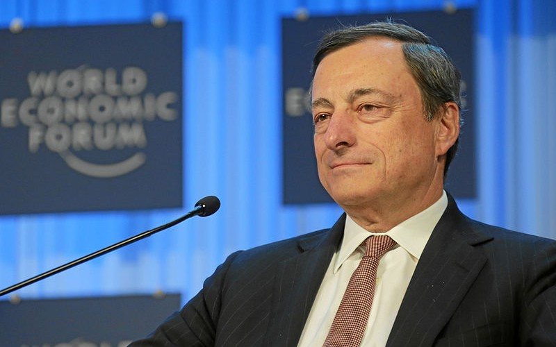 European Central Bank President Mario Draghi at the World Economic Forum