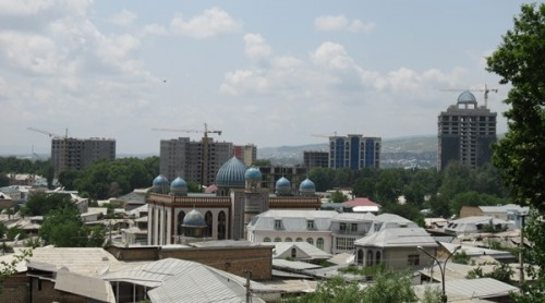 Dushanbe cranes and cupolas: investing for growth, and faith [credit: Jason Anderson]