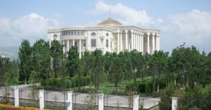 Dushanbe's Palace of Nations (and mancured grounds) [credit: Jason Anderson]
