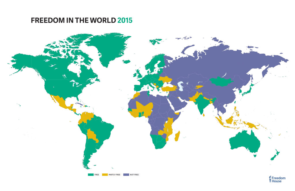 Source: https://freedomhouse.org/report/freedom-world-2015/maps
