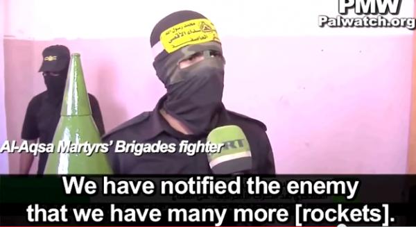 Fatah terrorist (Photo Credit: Palestinian Media Watch)