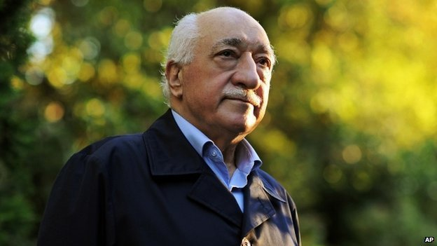 Fethullah Gulen, Turkish cleric exiled in the U.S. After allegations of corruption by the government surfaced 1 year ago, Turkish President Recep Tayyip Erdogan has accused the opposition, under Gulen's leadership, of trying to overthrow the government. Many critics say Erdogan is using whatever excuses he can to quash challenges to his rule. Photo: AP via BBC