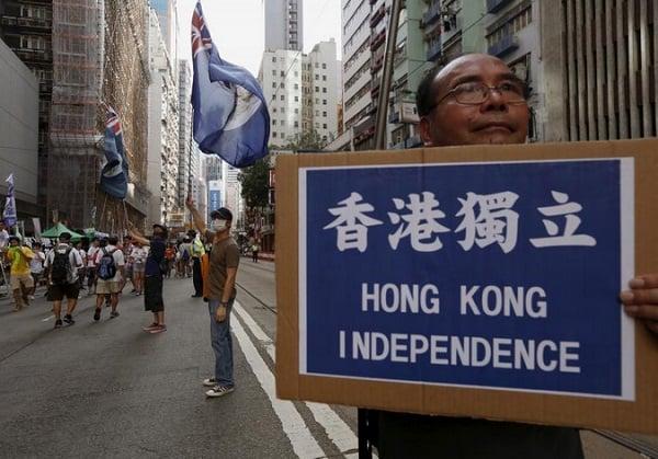 Anti-China demonstration, Hong Kong, 2015 (Phoenix New Media)