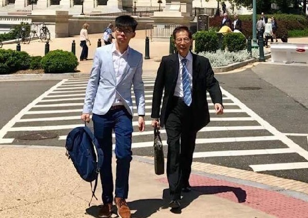 Joshua Wong and Martin Lee in Washington (HKFP).