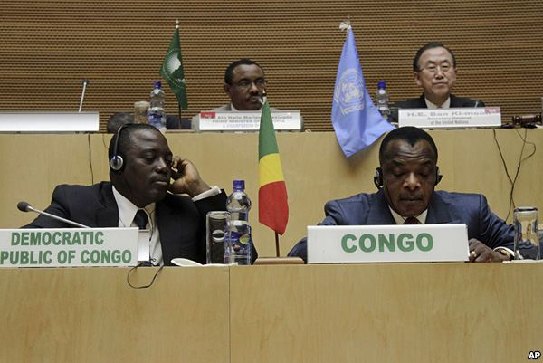DRC President Jospeh Kabila listens in as the details of the Peace Accod are discussed
