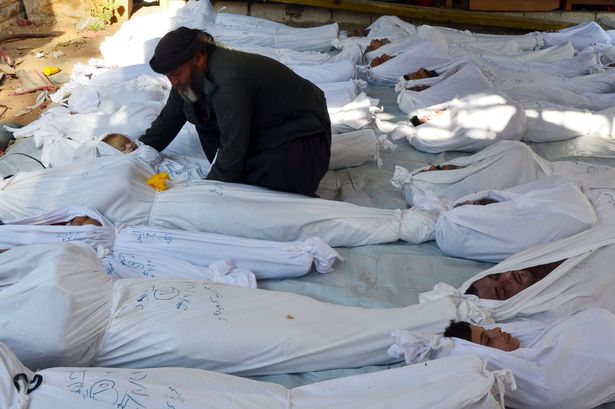 Intelligence reports suggest that the Syrian government attacked the Damascus suburb of Ghouta with chemical weapons on Aug. 21. 2013. (Photo: dailyrecord.co.uk)