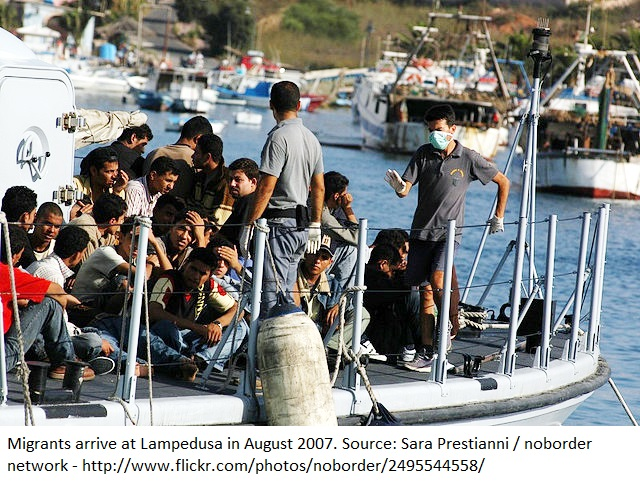 Migrants Arrive at Lampedusa in August 2007