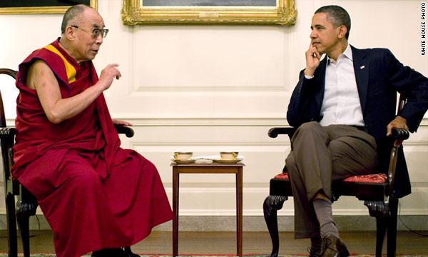 President Obama Meets with Dalai Lama.