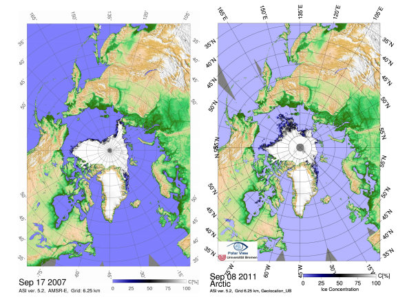 Arctic Sea Ice Extent Reaches New Historic Minimum