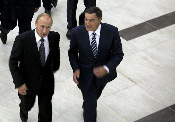 Vladimir Putin and Aras Agalarov (Minval.az)