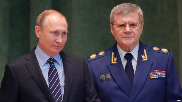 Vladimir Putin and Yury Chayka (Current Time)