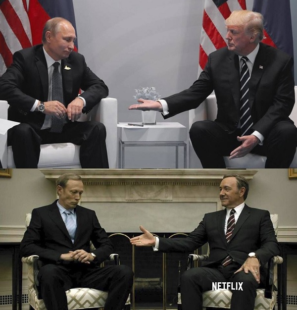 Putin-Trump House of Cards (Twitter)