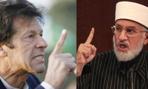 PTI Leader Imran Khan and Tahir ul Qadri