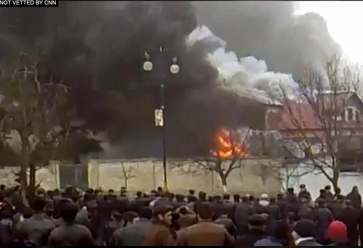 Sudden, Violent Demonstration Erupts in Northern Azerbaijan