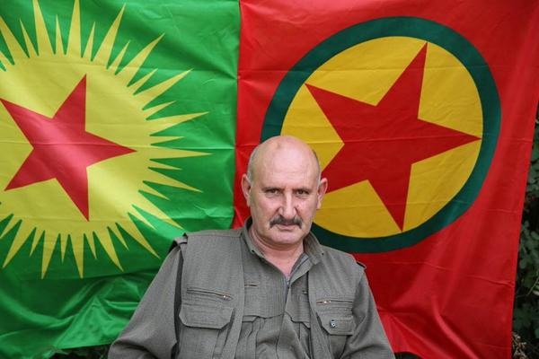 Sabri Ok, a leader of the Kurdistan Workers Party, a guerrilla group who has taken up the fight vs. ISIS in Iraq despite being considered a terrorist org. by the US. They have effectively held back ISIS advances. Photo: Dominique Soguel, Christian Science Monitor