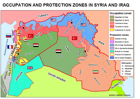 Turkish and Egyptian Occupation, other Protection zones