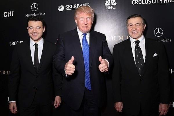 Emin Agalarov, Donald Trump, and Aras Agalarov (Life.ru)