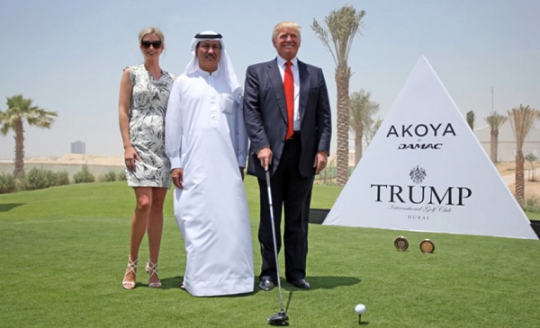 Donald and Ivanka Trump with Dubai partner Hussain Sajwani