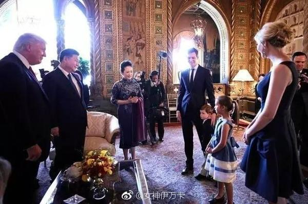 The Trump-Kushner and Xi Jinping families at Mar-a-Lago.