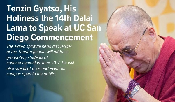 Dalai Lama to speak at UC San Diego Commencement (UCSD).