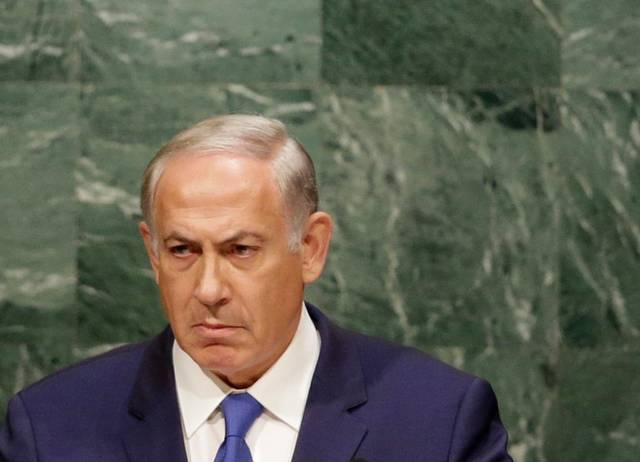 Netanyahu glowers at the UN
