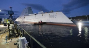 BATH, Maine (Oct. 28, 2013) The Zumwalt-class guided-missile destroyer DDG 1000 (U.S. Navy photo courtesy of General Dynamics/Released)
