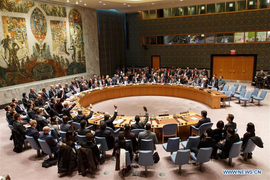 March 2, 2016. The United Nations Security Council adopted a resolution to impose sanctions on the DPRK in order to curb the country's nuclear and missile programs. (Xinhua/Li Muzi)