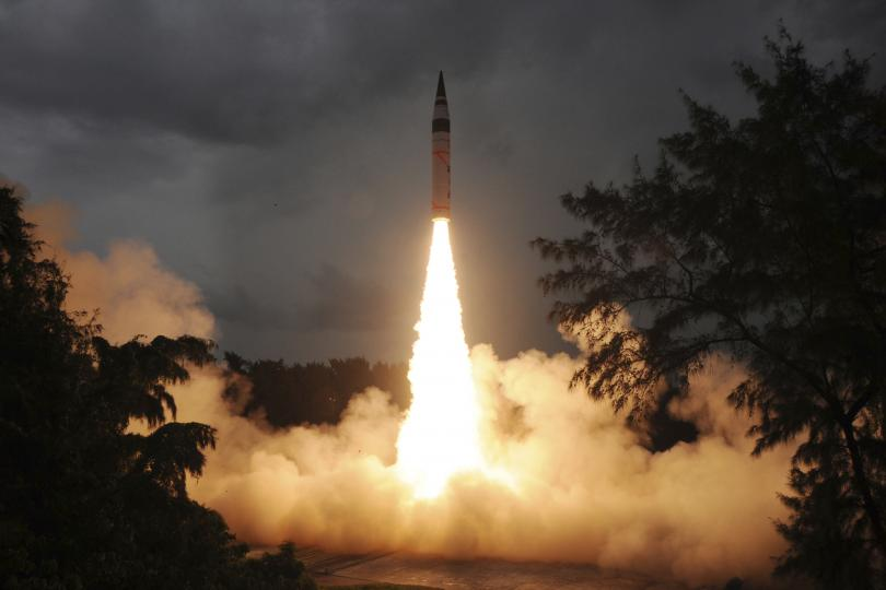 Ballistic missile launches. (Reuters/Indian Defence Research and Development Organization/Handout)